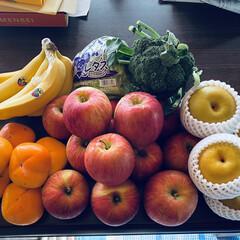 おまけ/華音/秋晴れ/バナナ/ブロッコリー/レタス/... おはようございます。🌞 秋晴れ~\(^o…