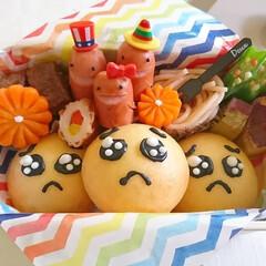 オベンタグラム/お菓子作り/可愛い/クッキー/チョコペン/たまごパン/... ぴえん弁当第2弾&クッキー  うるうるの…