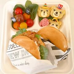 ダイソー/サンドイッチ/ベーグル/カフェ風/ランチボックス/お弁当/... ダイソーで見つけた使い捨てランチボックス…