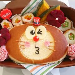 キャラごはん/飾り切り/可愛い/レシピ/アレンジ/チーズ蒸しパン/... 今日のmy弁当  チーズ蒸しパンをアレン…