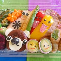 のっけ弁/野菜/キャラ弁/おうちごはん/お弁当/ランチ/... 暑いですね(^_^;))) 今日は、県内…