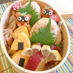 曲げわっぱ弁当/おしゃ弁/可愛いお弁当/わっぱ弁当/タヌキ/ウインナーアレンジ/... こんにちは(^^) 旬の筍を頂いたので……
