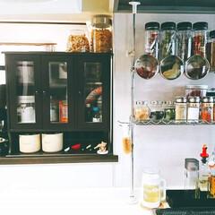 キッチン収納/スパイス/お気に入り/キッチン/キッチン周り/スパイス棚/... お気に入りのキッチン スパイス収納 料理…