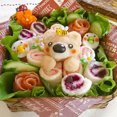 オベンター/オベンタグラム/竹かご/可愛い/ランチボックス/お弁当/... こんにちは(^^) 今日のお弁当 くまさ…