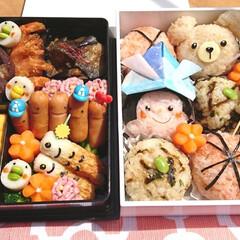 おにぎり/行楽弁当/可愛い/キャラ弁/ピクニック弁当/お弁当/... こどもの日ピクニック弁当 お天気がいいの…