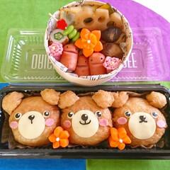 使い捨て容器/ソーセー人/飾り切り/キャラ弁/お弁当/可愛い/... こんにちは(^^) 今日のお弁当 くまさ…
