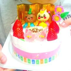ケーキ/ひな祭り/愛しすぎて大好きすぎる/LINEスタンプ 去年のひな祭りケーキ(*^^*) LIN…