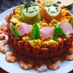 ひな祭り/ケーキ/ちらし寿司 いつかのおひなさまに 作った簡単 ちらし…
