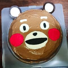 チョコレートケーキ/くまモン 怪しいくまモンケーキ 作りました(*´Д…
