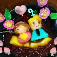 手作りおやつ/おしるこ/キャラ白玉 毎年ちらしかケーキ だったので今年は ご…
