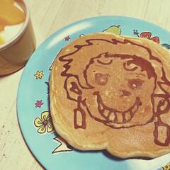 パンケーキアート/鬼滅の刃/パンケーキ/朝ごはん おはようございます☀☀ 今日の朝ごはん …