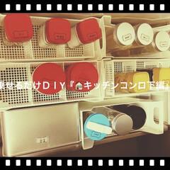 100均/DIY/乗せるだけ/空き瓶/再利用/リサイクル/... 粉物、麺類、ストック、よく使う物、キッチ…