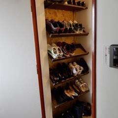 靴の収納 見せる収納の玄関&シューズボックス(シュ…