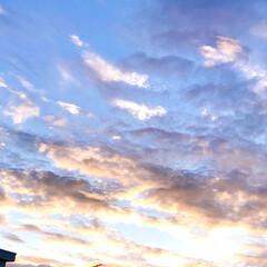 雲/空/暮らし/窓から見える空 今日の空 朝は真っ青な空だったけれど、 …(2枚目)
