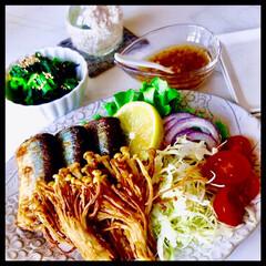 お家ご飯/秋刀魚/えのき/手作り/暮らし 今晩のおかず  秋刀魚がやすかったので、…
