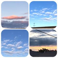 空/朝焼け/朝の雲/早起き おはようございます☀  朝晴れていると …