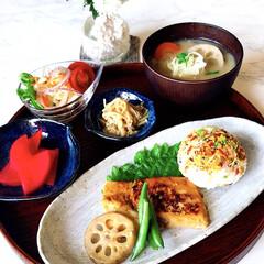 お家ご飯/朝ごはん/手作り/朝しっかり食べたい/野菜沢山食べたい/野菜好き/... おはようございます☀  今日の朝ごはんは…