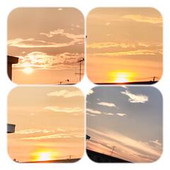 夕暮れ/夕焼け/空/暮らし/部屋から見る夕焼け/癒し 今空 今日も一日お疲れさまでした😊 8/…