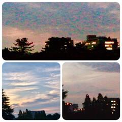 夕暮れ/夕焼け/ベランダからの風景/暮らし 今日の夕暮れの風景。  17:30には、…(1枚目)
