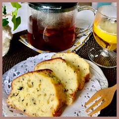 3時のおやつ/手作り/紅茶レモンパウンドケーキ/甘さ控えめ/お家時間/台風の日 どんより!明日は晴れるかな? 何にもない…