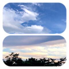 空/雲/ベランダからの眺め/暮らし/癒し おはようございます☀  風が少し強いです…