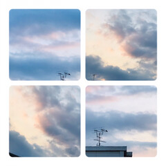 空/雲/夕方の雲/淡い色の雲/暮らし/癒し 8/14    18:00  今空、淡い…