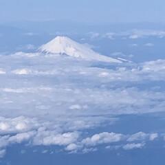 空からの夕方の海/雲の上の夕陽/空からの富士山/空からの景色 上空からの景色 富士山 雲の上の夕焼け …
