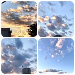 空/雲/夕暮れ/夕焼け/暮らし 日が沈む時間が早くなりました。 PM4時…