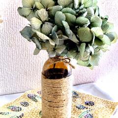 紫陽花/ドライフラワー/暮らし/手作り 紫陽花のドライ 一個だけ 栄養ドリンクの…
