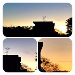 夕暮れ/夕焼け/空/窓からの眺め/暮らし/癒し 1日寒くて 家から一歩もでませんでした。…