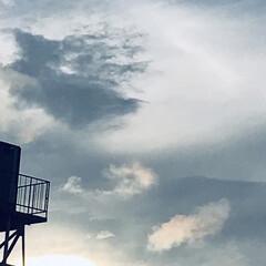 空/雲/夕暮れ/暮らし ①8/23  17:45の空  大雨警報…