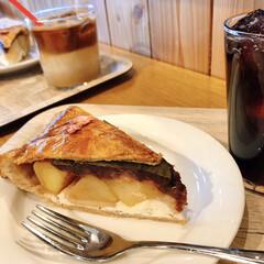 桜/休日/桜パイ 今日のお昼は いつか行った パイの美味し…