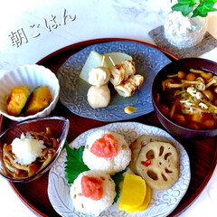 お家ごはん/朝ごはん/手作り/和ご飯/お米好き/野菜好き/... おはようございます☀ 清々しい青空、 久…