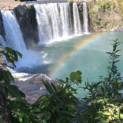 お出かけ/原尻の滝/滝にかかる虹/吊り橋/秋晴れ 今日は、大分の原尻の滝を 見てきました。…(2枚目)