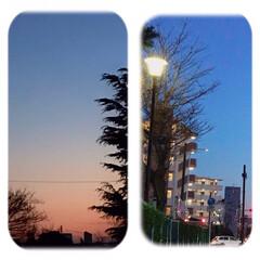 夕暮れ/風景/夕焼け 今日も一日お疲れさまでした。 夕方、駅を…(1枚目)