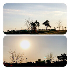 風景/眩しい太陽/逆光 今日の昼の景色 太陽が眩しい☀️ あの向…(1枚目)