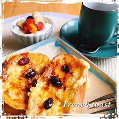 ランチ/limiaキッチン同好会/LIMIAFESTA/雑貨/暮らし/おうちご飯 お昼は、フランスパンを 厚切りにしてフレ…(1枚目)