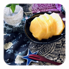柿/柿の季節/柿が好き/果物 果物の中で、一番好きな柿。 この季節が待…(1枚目)