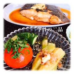 煮魚/おうちごはん/暮らし/うちの定番料理 今日は、早目のご飯です。 前から食べたか…