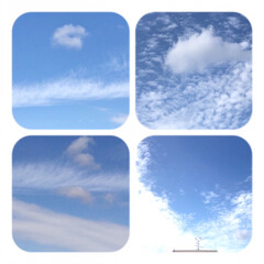 秋空/空/雲/雲の流れ/秋晴れ 今空、 すっかり秋らしい空に なりました…