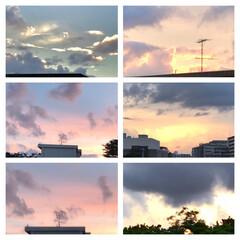 空/雲/夕焼け/夕暮れ/暮らし/ベランダからの眺め こんばんは⭐️  9/2  18:00の…