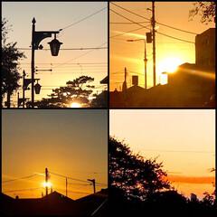 夕焼け/夕暮れ/空/夕焼けが見える景色/今日も、一日お疲れさま/暮らし こんばんは⭐️  今日の夕陽 眩しいくら…