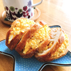 卵サンド/limiaキッチン同好会/暮らし/お家カフェ 今日は雨 コロナで外出できず 家にいると…