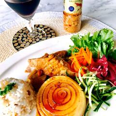 お家ご飯/晩ごはん/暮らし/節約/体に優しい食事/ヘルシー 晩ごはん 今日は、友人から送ってきた シ…