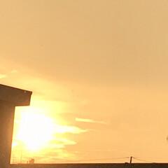 空/夕陽/移り変わる空 17:50  今頃、空が明るくなって 雷…