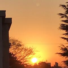 夕焼け/夕陽/夕暮れ/窓からの眺め/癒し 今日の夕焼けも 綺麗でした🌇 お天気下り…(3枚目)