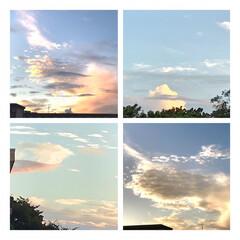 空/雲/夕暮れ/癒し/暮らし 今空  9/6  18:00 綺麗な空で…