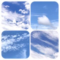 空/雲/梅雨の晴れ間/暮らし/窓から見える空 おはようございます。 朝、雷⚡️と、雨で…