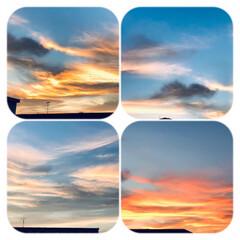 夕暮れの空/夕焼け/綺麗な空/暮らし/部屋から見る空 8/10  18:45    今空 真っ…