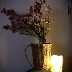 花/生花/癒し/暮らし/キャンドル/秋の夜長 お花を頂きました。 *:.。.(*ˆ﹀ˆ…